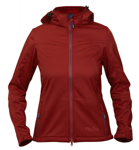 Damen Übergangsjacke St. Anne in rot | Softshelljacke | Fifty Five