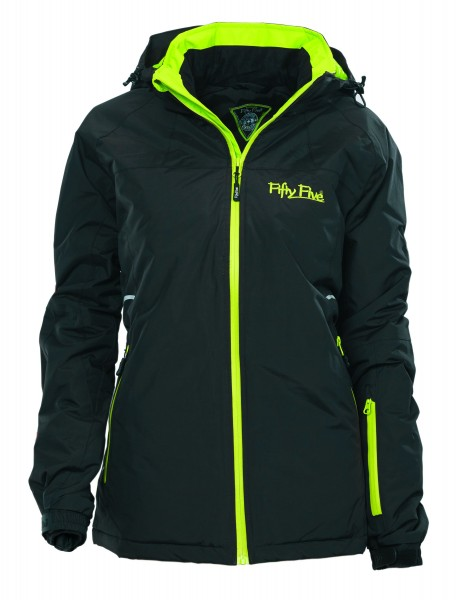 Damen Skijacke Glory von Fifty Five in schwarz-lime 1