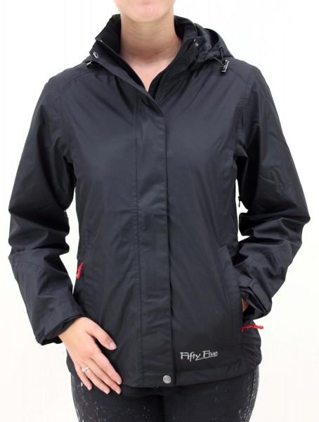 Regenjacke für Damen Santoy von Fifty Five in Schwarz