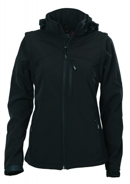Damen Softshelljacke Whistler von Fifty Five in schwarz 1