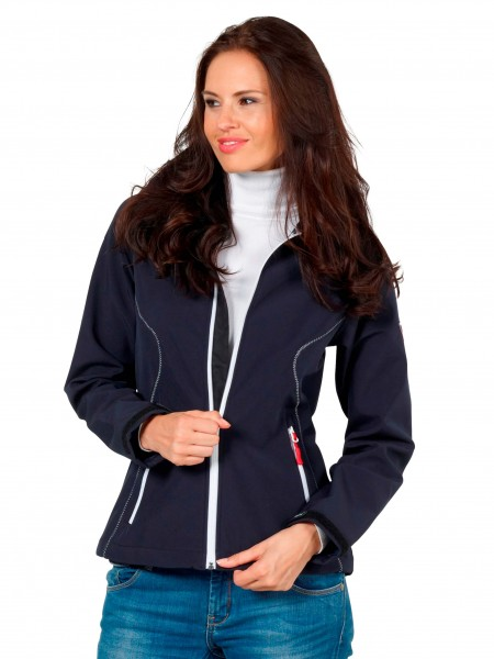 "Stylishe Damen Softshelljacke für den Sommer ""Susan"" von Fifty Five in Navi Blau 1"