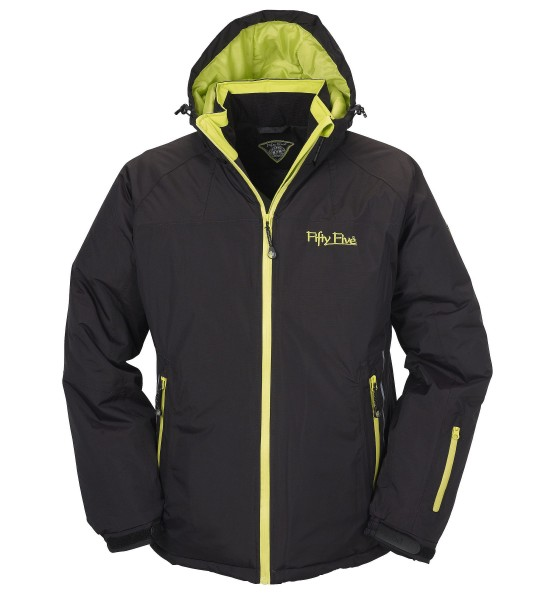 Herren Winterjacke Jamie von Fifty Five in der Farbkombination Schwarz Lime 1