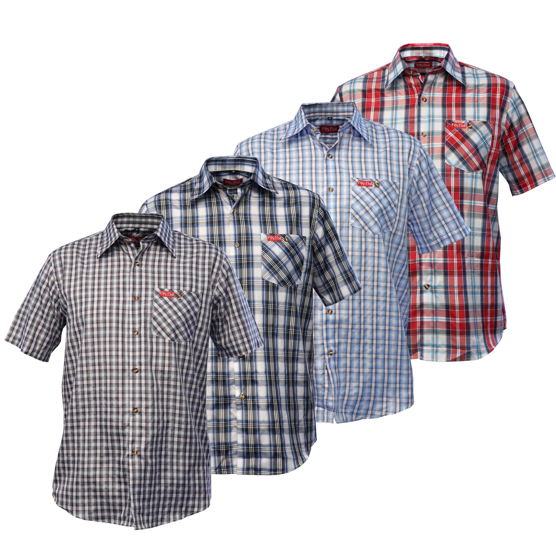 Hemd rotschwarz karriert für Herren in 63263 Neu Isenburg