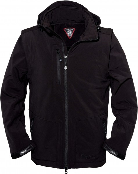 Herren Softshelljacke Power von Fifty Five in Schwarz