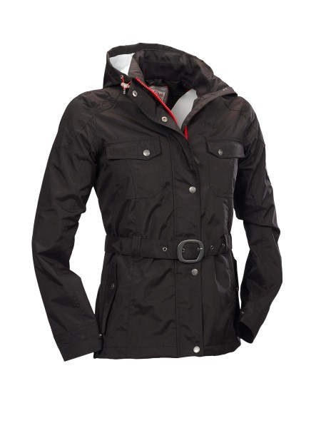 "Stylishe Regenjacke für Damen ""Lake Nipigon"" im angesagten Military-Look von Fifty Five in Schwarz 2"