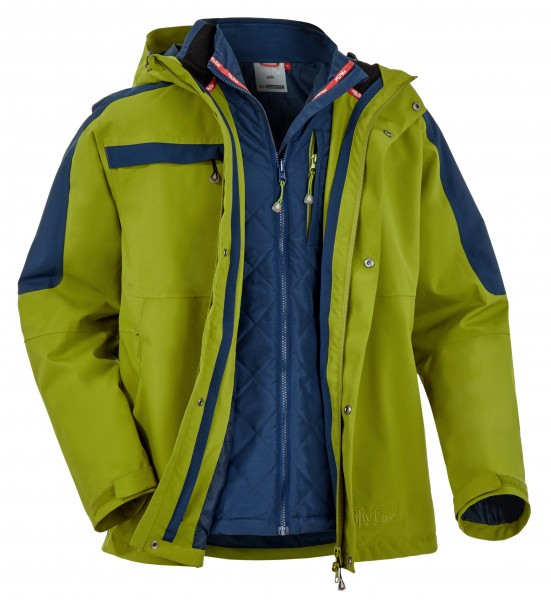 "5-in-1 Outdoorjacke für Herren ""Thunder Bay"" von Fifty Five in grün"