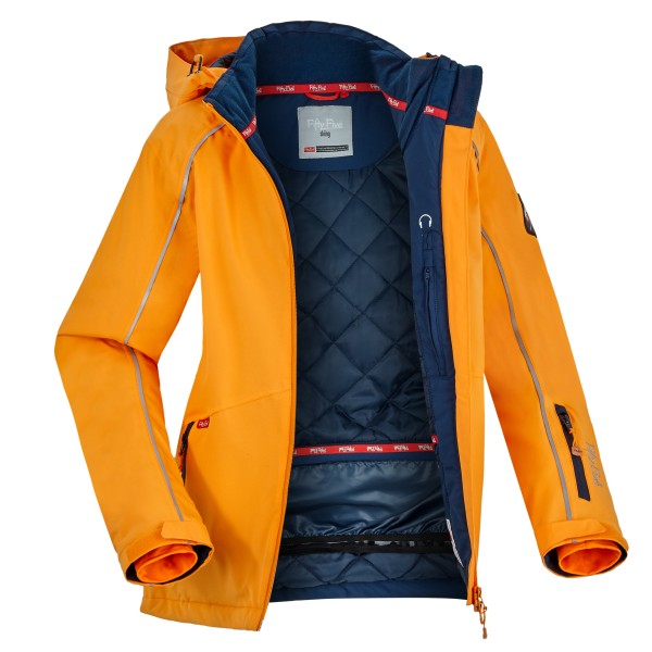 Damen Winterjacke St. Marys von Fifty Five in Orange 1